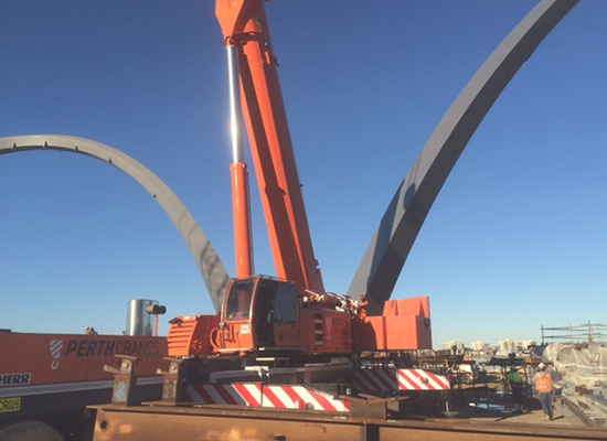 Crane Hire Elizabeth Quays Perth