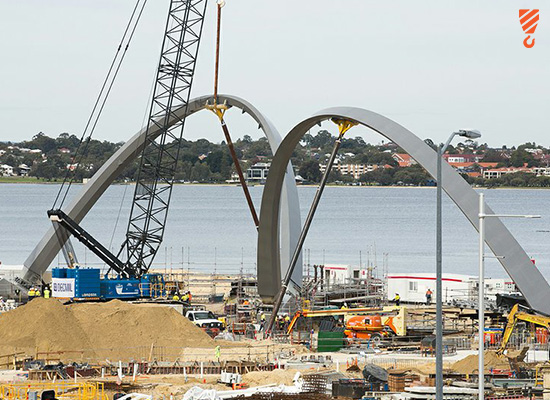 Elizabeth Quays Project - Crane Hire Perth