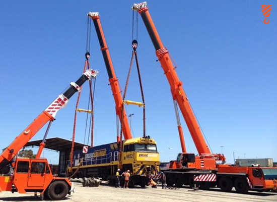 Train lift - Crane Hire Perth